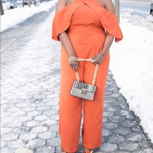 Burnt Orange Off Shoulder Jumper